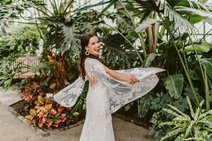 Wedding Dress with Dramatic Lace Sleeves