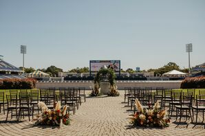Ceremony Near Football Field at the United States Naval Academy