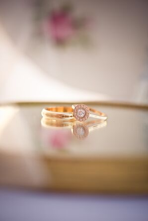 Stacked Gold Engagement Ring