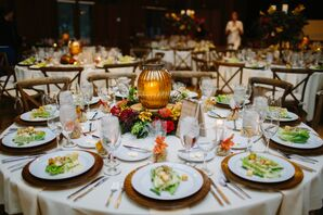 Fall-Inspired Tablescape with Lantern Centerpiece