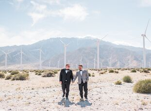 After attending a friend's nuptials in Palm Springs, Jack Taormina (34 and a manager of an interior design boutique) and Jeff Lawley (32 and a lead re