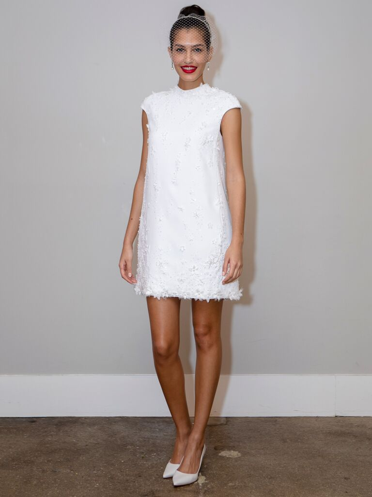 BHLDN short sexy wedding dress