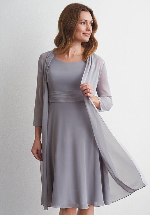 Jasmine Black Label M200056 Silver Mother Of The Bride Dress