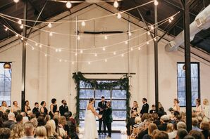 Industrial Winter Wedding at at PAIKKA in St. Paul, Minnesota
