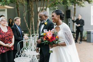 Bridal Processional at the Kimpton Brice Hotel in Savannah, Georgia
