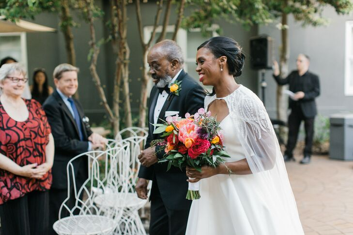 Bridal Processional at the Kimpton Brice Hotel in Savannah, Georgia