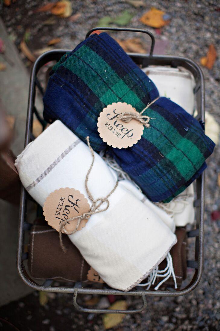 Fall Wedding Blanket Favors