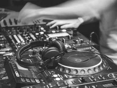 DJ working during wedding