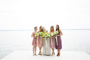 Short Dusty Rose Bridesmaid Dresses