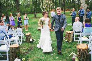 Lace Pronovias Wedding Gown
