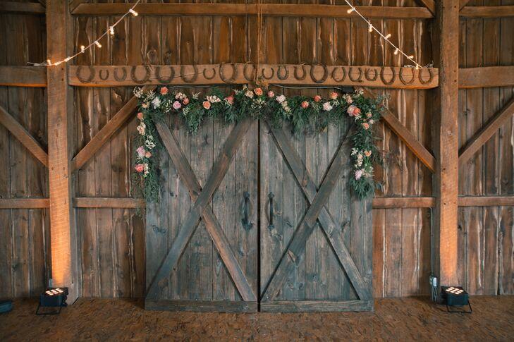 Rustic Barn Door Ceremony Backdrop