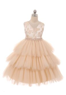 Kid's Dream 412 Pink Flower Girl Dress
