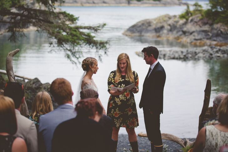 During the intimate ceremony in Sitka, Alaska, several friends and family members stood to say a few words about the couple.