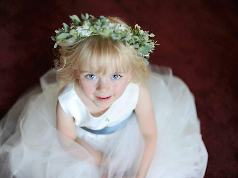Thistle flower girl crown
