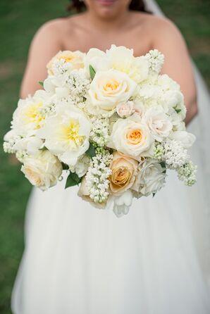 All-White Bridal Bouquet