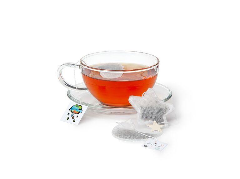 Tea bag bridal shower favors