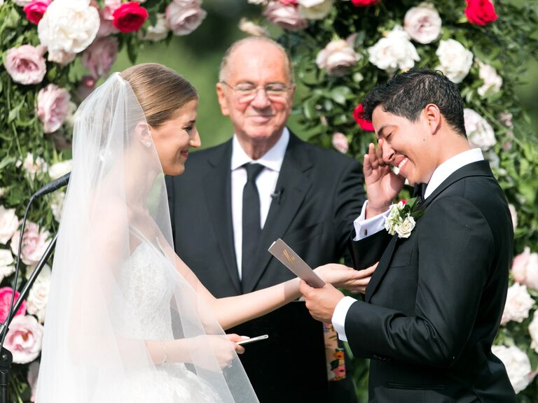 wedding ceremony emotional wedding vows