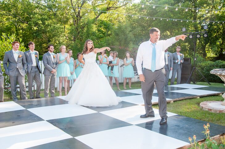 Diy Black And White Checkerboard Dance Floor