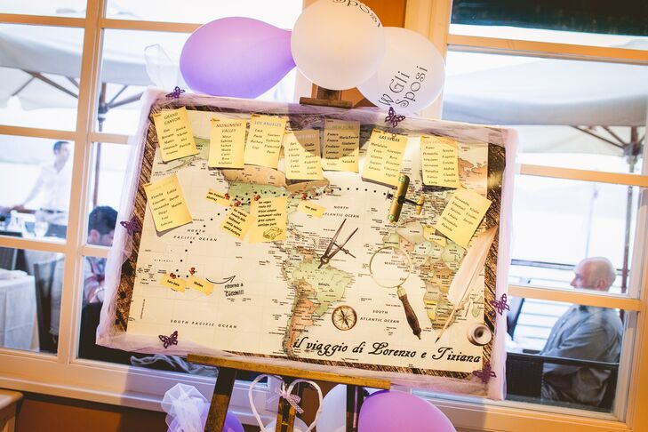 Vintage Map Escort Cards in Lucca, Italy