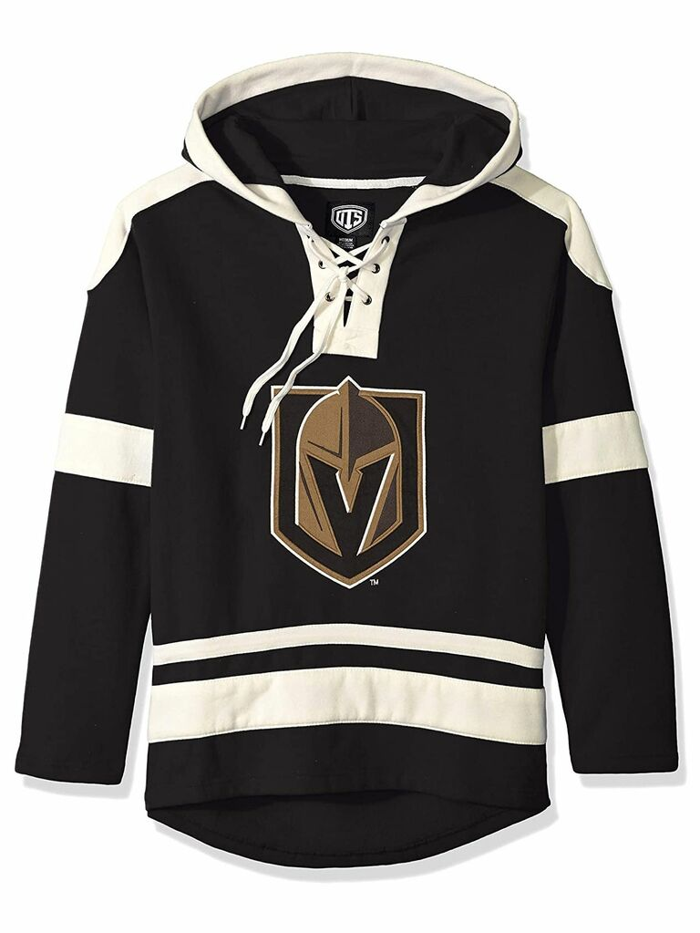 lace up hockey pullover hoodie