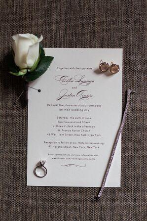 Busy Bride Print Wedding Invitation