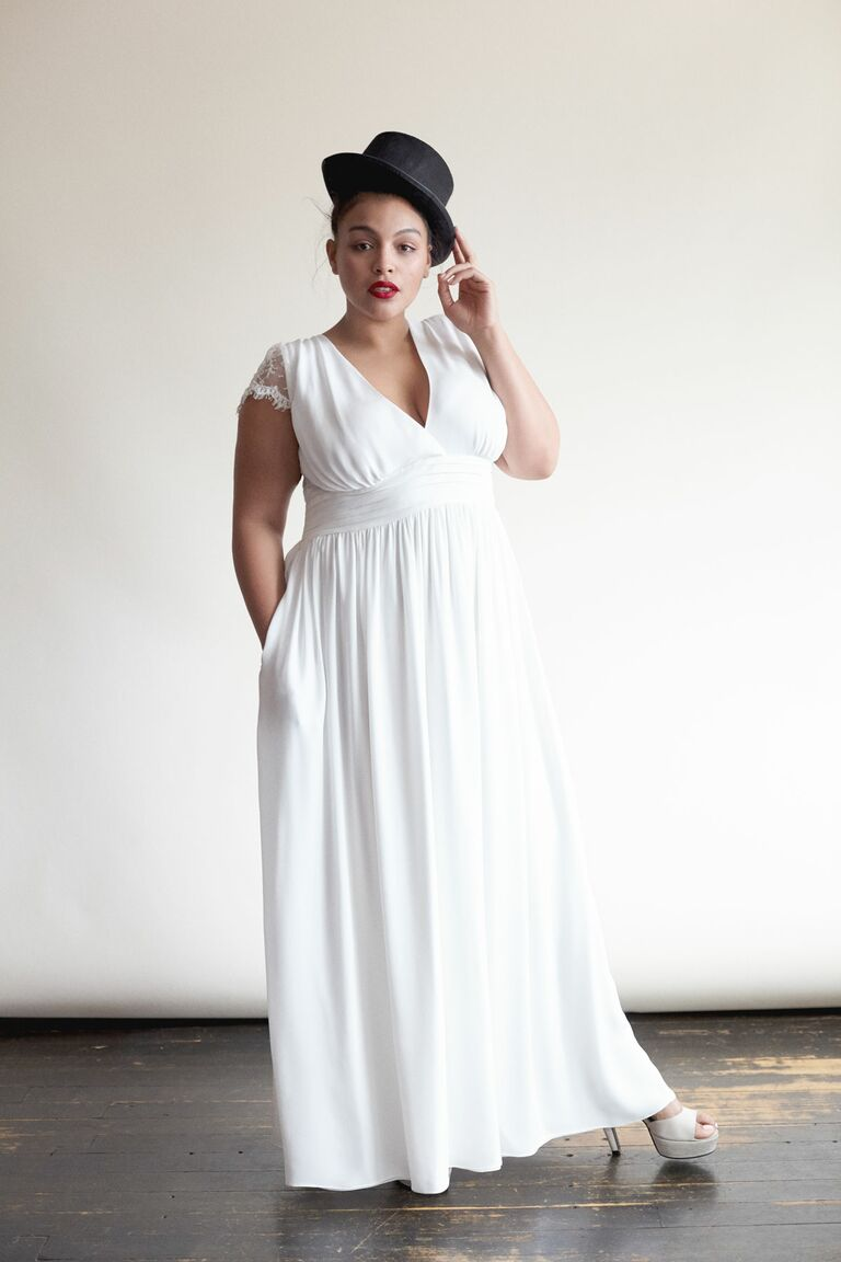 Plus Size Floral Dress for Vow Renewal