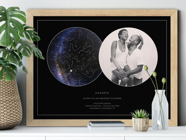 Custom star map and photo romantic picture gift