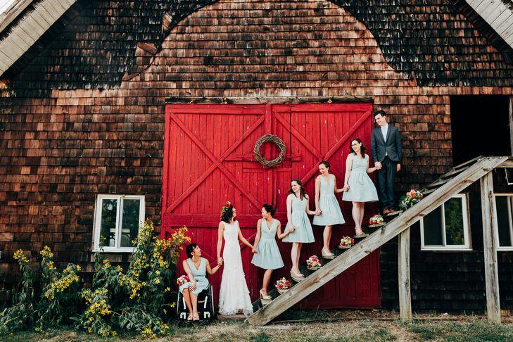 Short Mint A-Line Bridesmaid Dresses