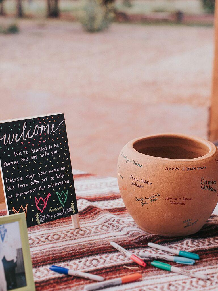 Creative Guest Book Ideas Plants