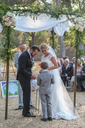 Ring Bearer Giving Rings at Ceremony