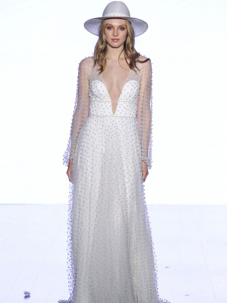 Willowby by Watters Fall 2019 Bridal Collection embellished V-neck wedding dress