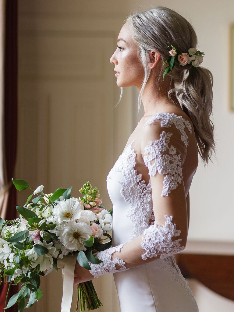 Wedding Hairstyles Low Ponytail