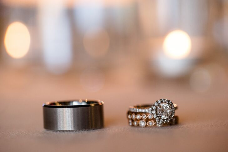 """""""The ring was everything I have ever dreamed of,"""" Shelby says. """"The setting has a single halo of diamonds around the band and around a perfect round diamond that is the prettiest I have ever seen."""""""