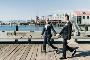 Same-Sex Portraits at Multicultural Vancouver Wedding