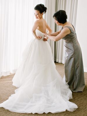 Soft Romantic Tulle Ball Gown Wedding Dress