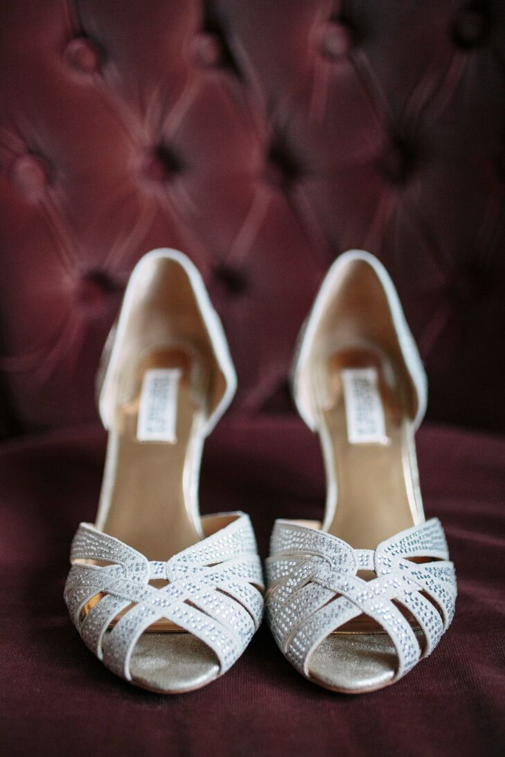 Strappy White Badgley Mischka Shoes