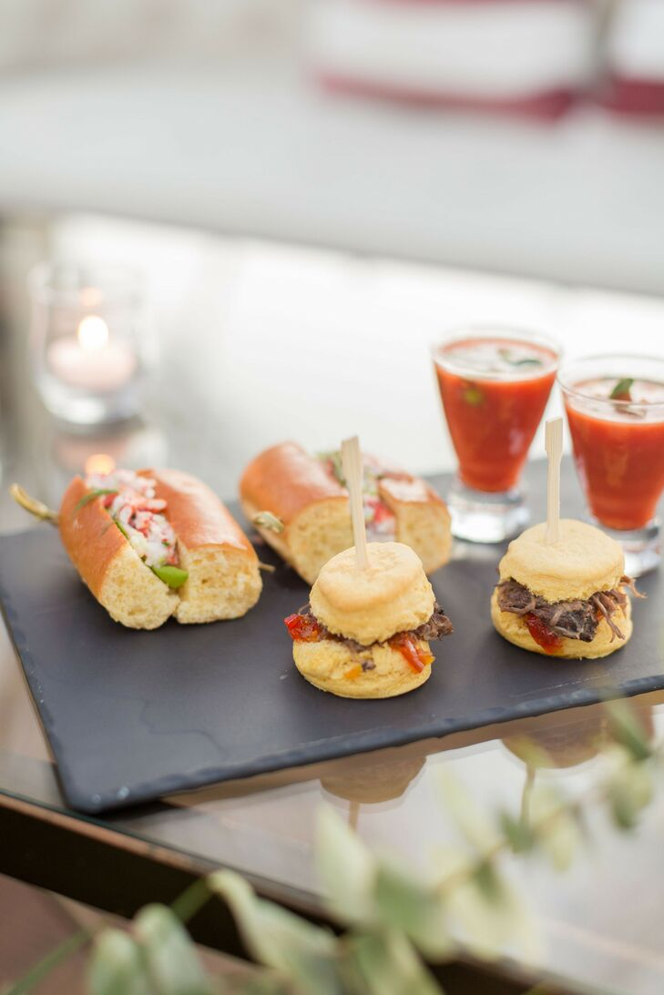 Lobster Roll and Lamb Slider Passed Appetizers
