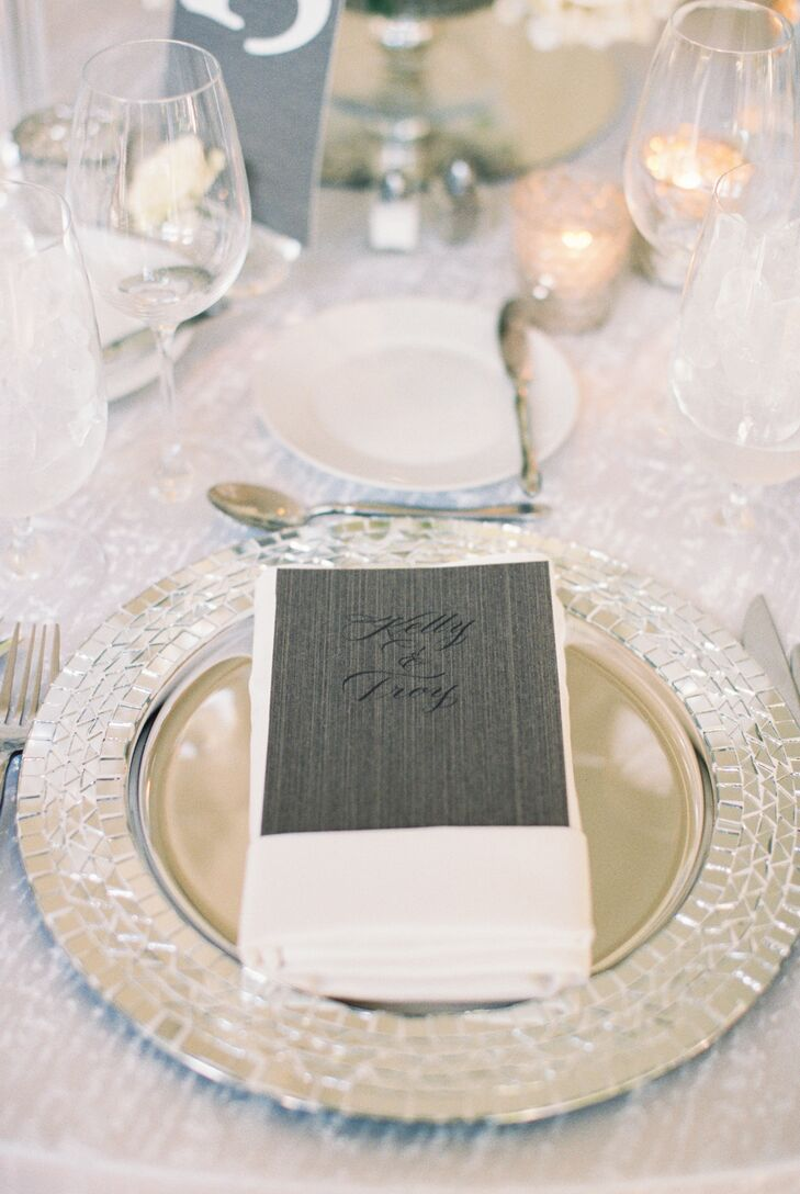 Glam Place Settings with Mosaic Chargers