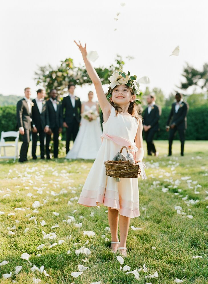 Flower Girl at Charlottesville, Virginia, Wedding