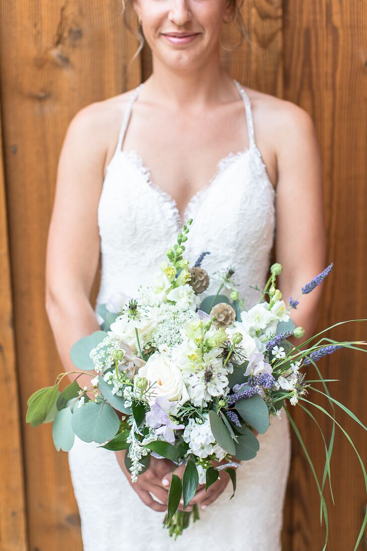 Lavender and Scabiosa Bridal Bouquet