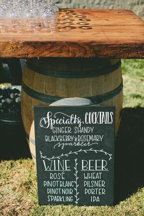 Vintage Wine Barrel Bar