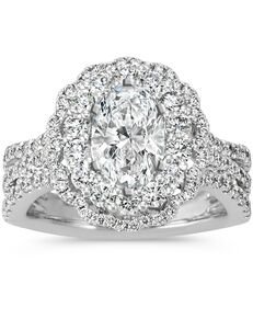 Shane Co. Glamorous Oval Cut Engagement Ring