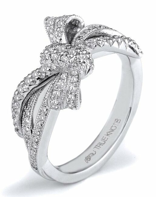 True Knots The Knot Collection K3180 Palladium Platinum White Gold Wedding Ring