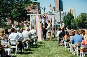 Holding Hands, Wedding Arch Draping