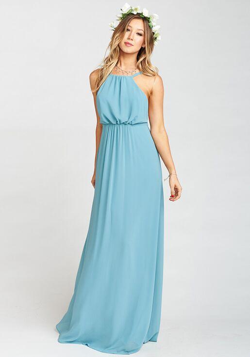 Show Me Your Mumu Amanda Maxi Dress Poolside Chiffon Bridesmaid