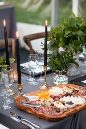 Charcuterie Spread at Casually Decorated Reception
