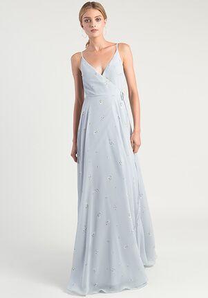Jenny Yoo Collection (Maids) James Ditsy Print V-Neck Bridesmaid Dress