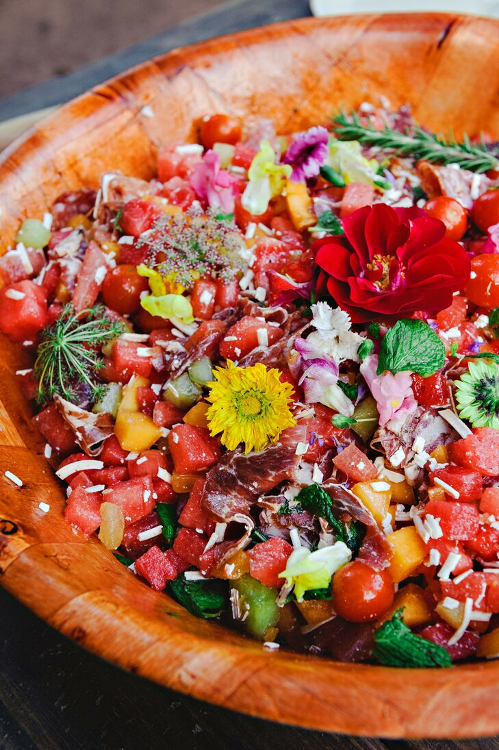 Family-Style Salad with Edible Flowers and Herbs