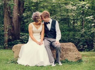 Brent Garner, 24, an IBM System Administrator, married Jodi Garner, 23, a sixth grade teacher, in an eclectic wedding in Ilinois. The couple first met