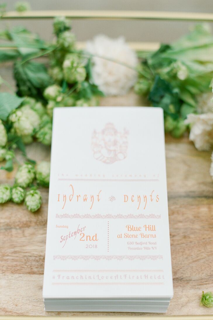 Simple Hindu-Inspired Ceremony Programs